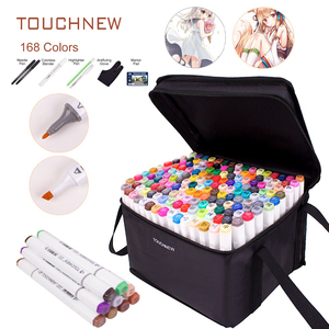 Image 1 - TOUCHNEW Manga 30 40 60 80 168 Colors Dual Head Art Marker Alcohol Based Markers Sketch Pen Drawing Art Set For Student Manga