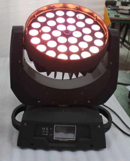 HOT 36*18w Led Moving Head Zoom Wash Light RGBWY+UV 6in1