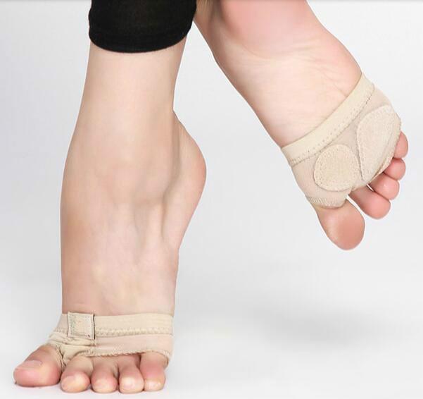 Professional Belly Ballet Dance Toe Practice Shoe Foot Thongs Half Sole Footundeez For Modern Dance Socks Sandal Step Gym Shoes костюм для belly dance qiya t8015a