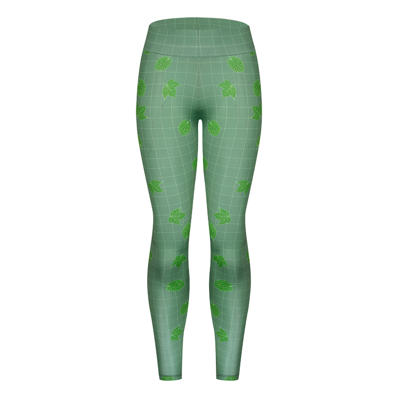 2018 Fashion Leggings Digital print Green leaves leggings Slim High Waist Leggings Fitness Woman Pants Leggings