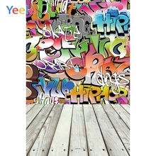 Yeele Wallpaper Photocall Graffiti Words Room Decor Photography Backdrops Personalized Photographic Backgrounds For Photo Studio