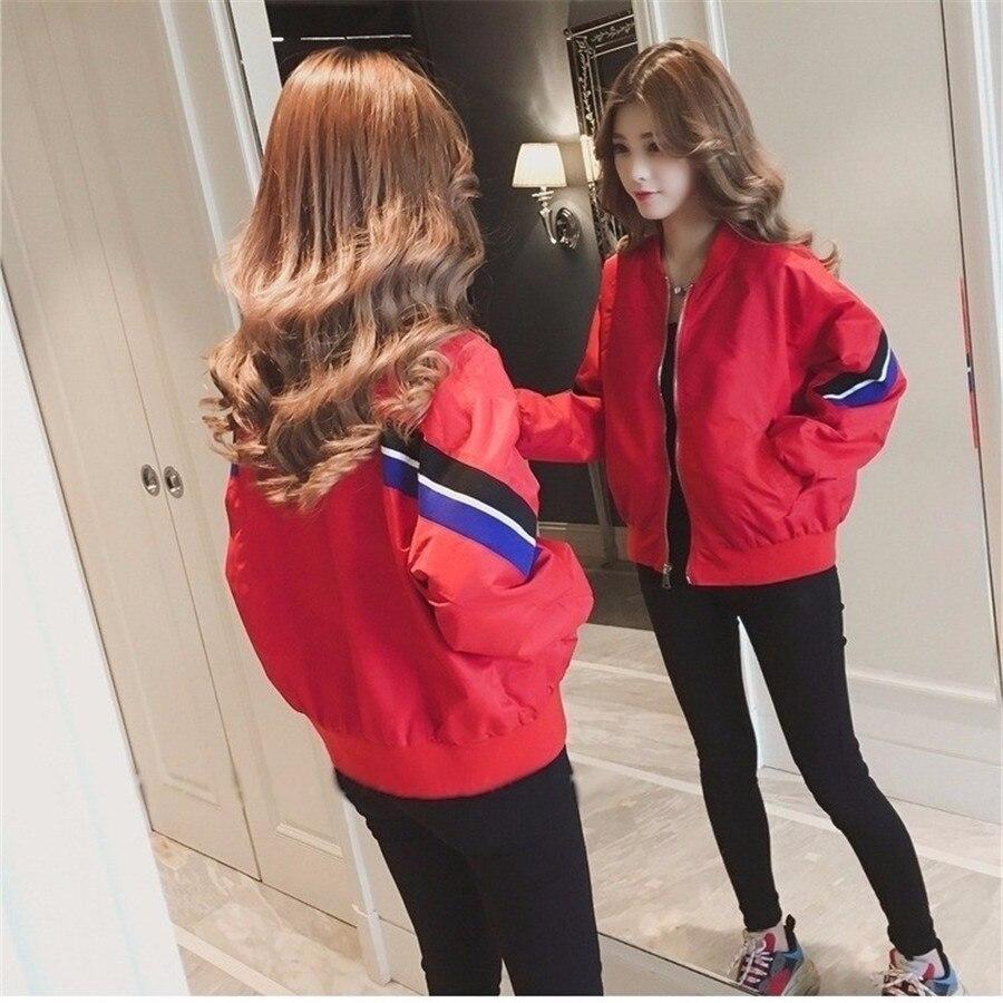 Jackets   Women New Women's   Basic     Jacket   Fashion Windbreaker Outwear Female Baseball Women Coat
