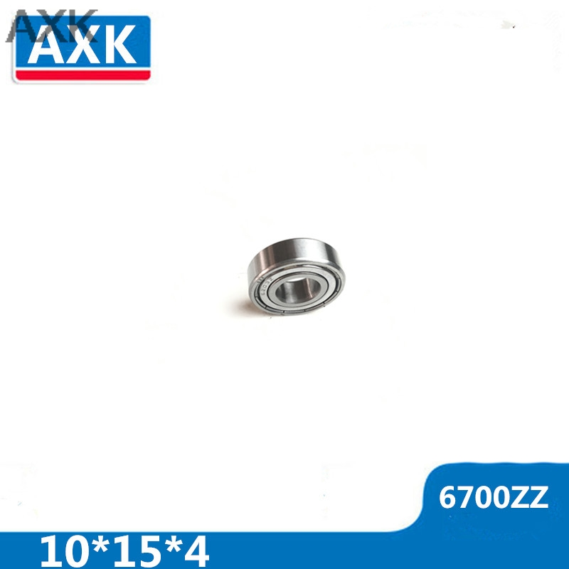 AXK 20pcs/Lot 6700ZZ 6700 ZZ 10x15x4mm Thin Wall Deep Groove Ball Bearing Mini Ball Bearing Miniature Bearing Brand New huppa зеленая куртка с байкерами