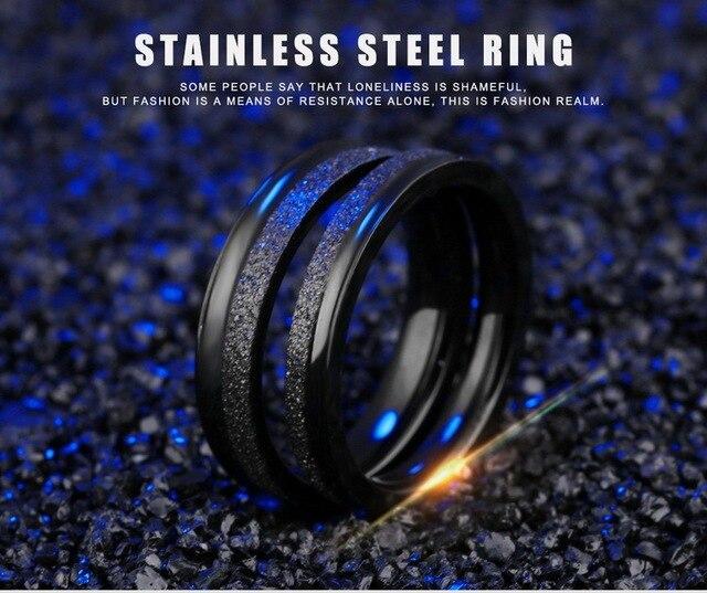 Модные украшения парное кольцо из титановой стали черное полукольцо