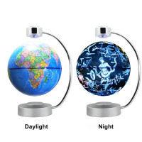 Touch Maglev Floating Earth Globe Night Light with World Map for Children Kids Decorative Table Lamp Bedside Bedroom Study Room