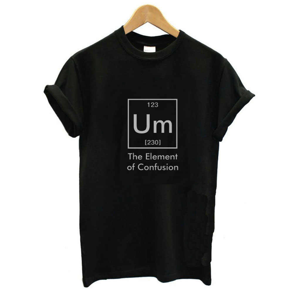 Um Brief Print T Shirt Vrouwen Korte Mouw O Hals Losse T-shirt 2019 Zomer Vrouwen T-shirt Tops Camisetas Mujer