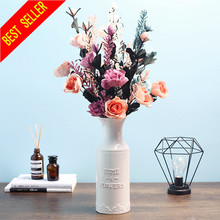 3 Heads/Bouquet Simulation Real Touch Artificial Rose Flower Wedding Home Party Decoration Fake