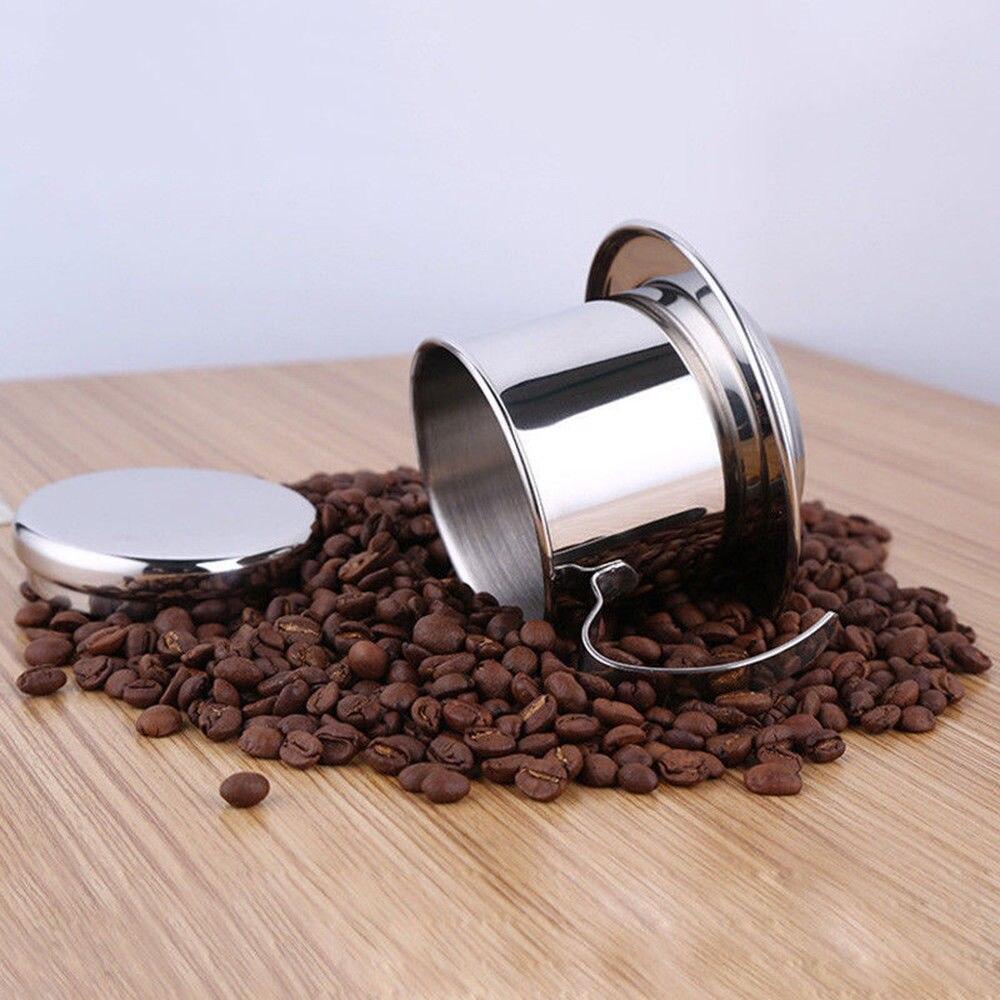 50/100 мл нержавеющая сталь вьетнамский кофейник капельный фильтр Кофеварка чайник