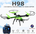 Rc Quadcopter With Camera HD Mini Flying Camera Helicopter 2.4G 4CH Dron Headless Mode Copter Jjrc H98  Remote Control Drones