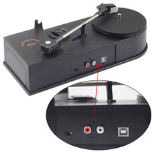 Portable Vinyl Turntable Record Player Converter 33/45RPM LP Turntables to MP3/WAV For Windows Mac, Support R/L Out to Speaker