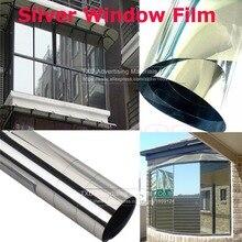 50 см x 30 см/лот Серебряная оконная пленка, односторонние зеркальные изоляционные наклейки, Солнечная Светоотражающая Серебряная Защитная пленка для стекла здания