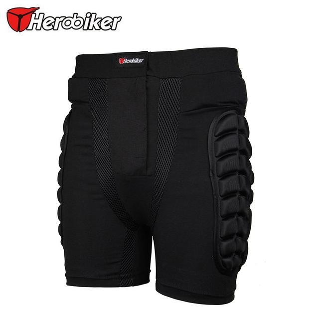 Herobiker almohadilla protectora de la almohadilla de la cadera pantalones cortos cortos de protección de esquí snowboard ski snowboard motocross deporte mtb dh shorts