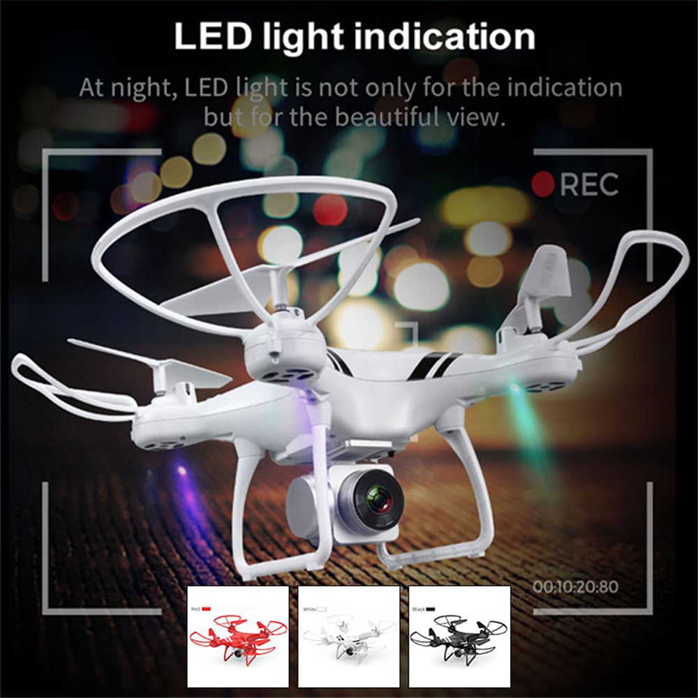 2.4GHz 4 Ch 6 Axis 0.3MP FPV Camera Drone 20min APP Remote Speed Adjustable Wifi Quadcopter LED Light Altitude Hold Helicopter