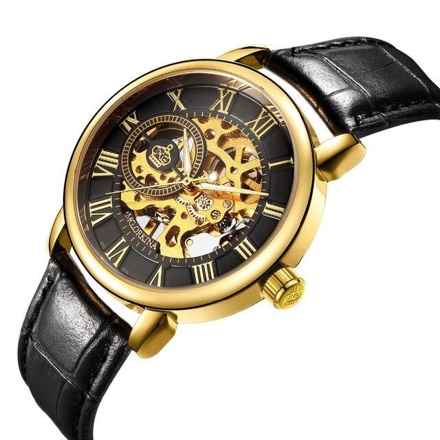 c4d7c6f79a8 MG. ORKINA Male Wristwatch Skeleton Dial Mechanical Hand Wind Men s Wrist  Watches Clocks Original Brand