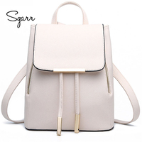 2016 Fashion Women Backpacks Preppy Style School Bag PU Leather Backpack Ladies High Quality Female Outdoor