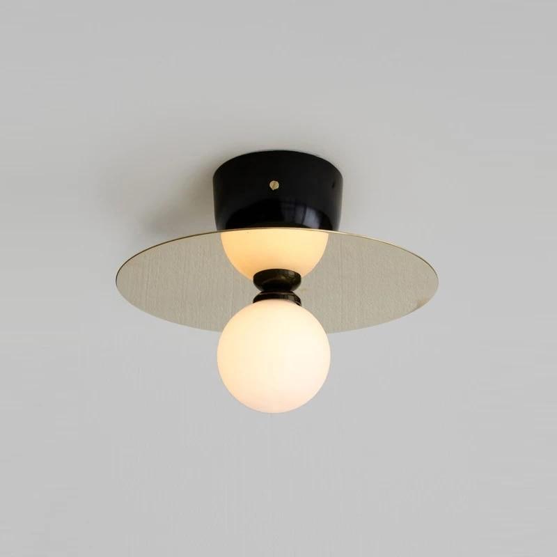 Nordic LOFT bronze ceiling light industrial wind UFO bedroom aisle balcony study ceiling light цена