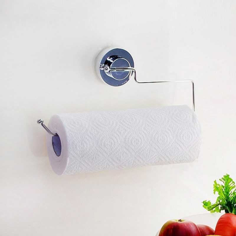 Stainless Steel Suction Cup Kitchen Towel Hanger Bar PaperTowel - Barang dagangan isi rumah