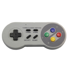 Mini SNES 2.4G wireless controller SNES Classic Super host 2.4G mini game handle Supportting NES/SNES/Wii with Bluetooth adapter 2pcs 1 8m cable adapter converter for super nes nes controller to nes mini classic system for fc9 sfc snes 7 needle controller