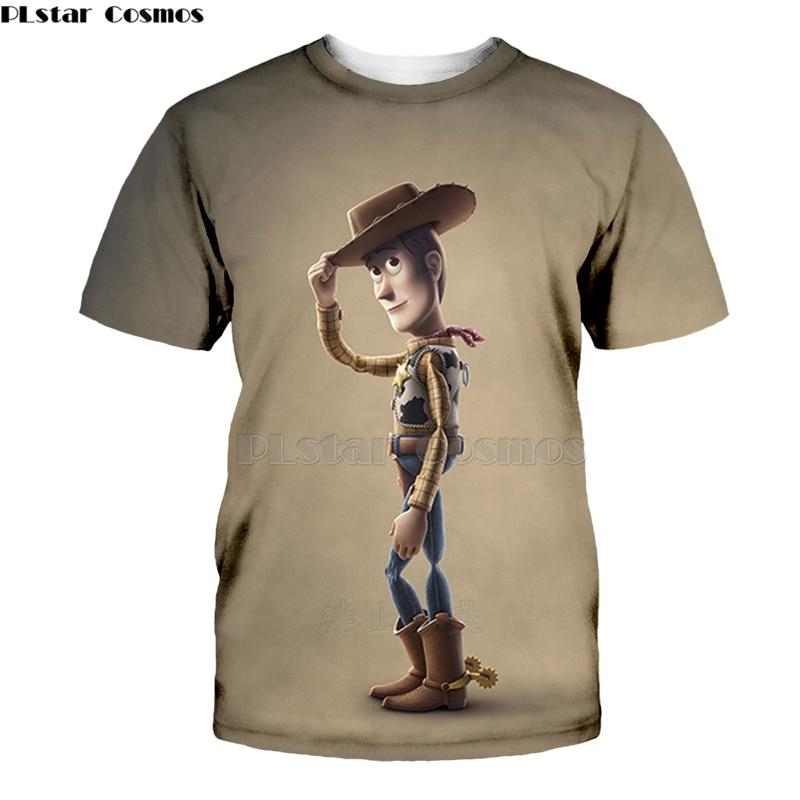 2019 New Toy Story 4 The Walking Toys 3d T Shirt Forky Sherif Woody Cartoon Buzz Lightyear Tee Women Men-5
