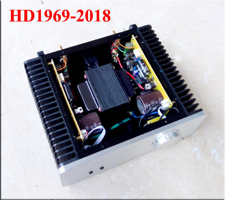 2018 New Class A Hood 1969 Amplifier MJ15025G MJ15024G Stereo HiFi Power Amp 10W+10W Finished