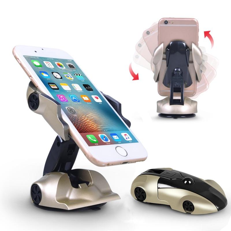 Car Phone Holder Universal Windshield Mobile Phone Holder Stand 360 Degree Rotatable Car Mount Holder Clip Stand Holder