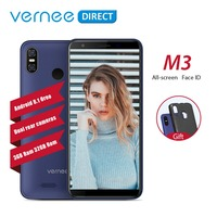 Original Vernee M3 Telephone 5.5 Inch 3GB RAM 32GB ROM Dual Cameras Ultra Slim Face ID 13MP+5MP Android 8.1 Mobile Cell Phones