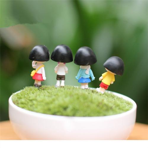 4 PCS / Mini indah kimono gadis / peri taman gnome / terraium - Dekorasi rumah - Foto 3
