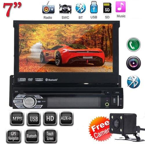 Free Rear Camera+Latest Design Panel Detachable 7'' single din Car DVD Player GPS Navigation in dash car styling Car Stereo