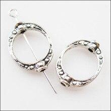 12 шт тибетский серебряный тон овальные точки разделительная рамка бусины амулеты 14,5x19,5 мм