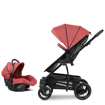 Sitting And Lying Pram High Landscape Baby Stroller Bassinet With Car Seat Carry Cot Dual