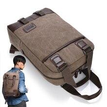 Vintage Canvas 13 14 15.6 17.3 Inch Laptop Backpack Travel Computer Notebook Backpack School Bag for Men Women