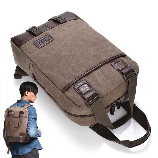 entrega gratis estilo novedoso sitio oficial Vintage lienzo 13 14 15,6 de 17,3 pulgadas del ordenador portátil mochila  de viaje de ordenador portátil mochila bolso de escuela para los hombres  las ...