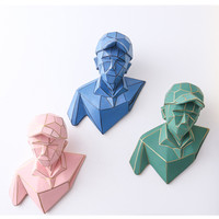 Nordic Abstraction Geometry Adolescent Figure Resin Wall Hangings Fashion Living Room Vestibule Wall Art Decorations X1481