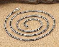 S925 Thailand 2mm import wholesale silver jewelry pendant rope chain collocation of male and female Silver Necklace