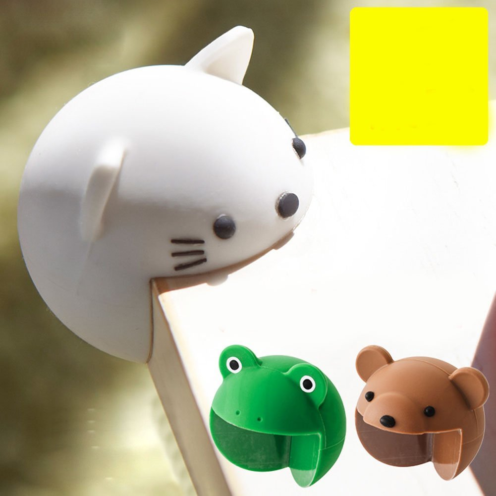 4pcs Cute Cartoon Baby Safety Furniture Corner Guards Soft Child Baby Safety Silica Gel Table Desk Corner Protector Edge Cover