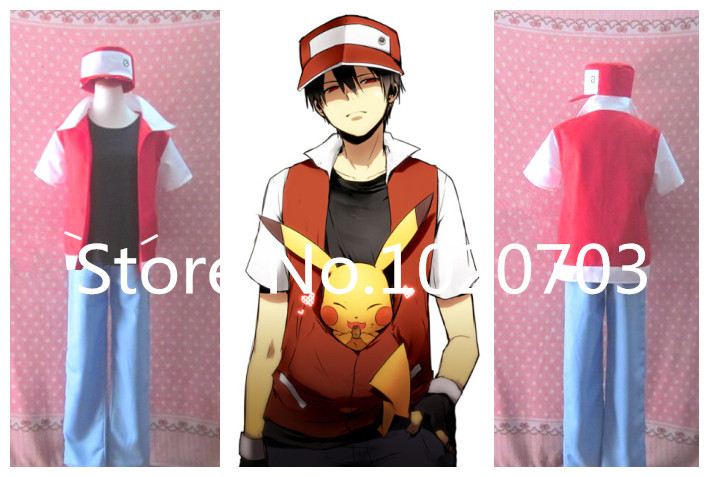 Pokemon Pocket Monsters red Ash Ketchum Satoshi Cosplay Costume-in Boys Costumes from Novelty u0026 Special Use on Aliexpress.com | Alibaba Group & Pokemon Pocket Monsters red Ash Ketchum Satoshi Cosplay Costume-in ...