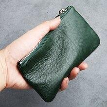 LANSPACE cartera de cuero para hombre, monedero fino de marca, monederos de diseño a la moda