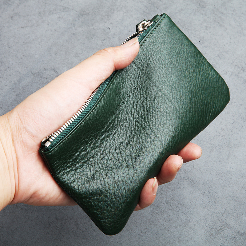 LANSPACE mens leather wallet brand thin purse fashion designer coin purses holders