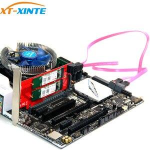 Image 5 - 3 interfejsy M.2 dla NVMe SSD dla NGFF na PCIE X16 Adapter M klucz 2x B kluczowa karta rozszerzająca karta rozszerzeń obsługa PCI Express 3.0 4X