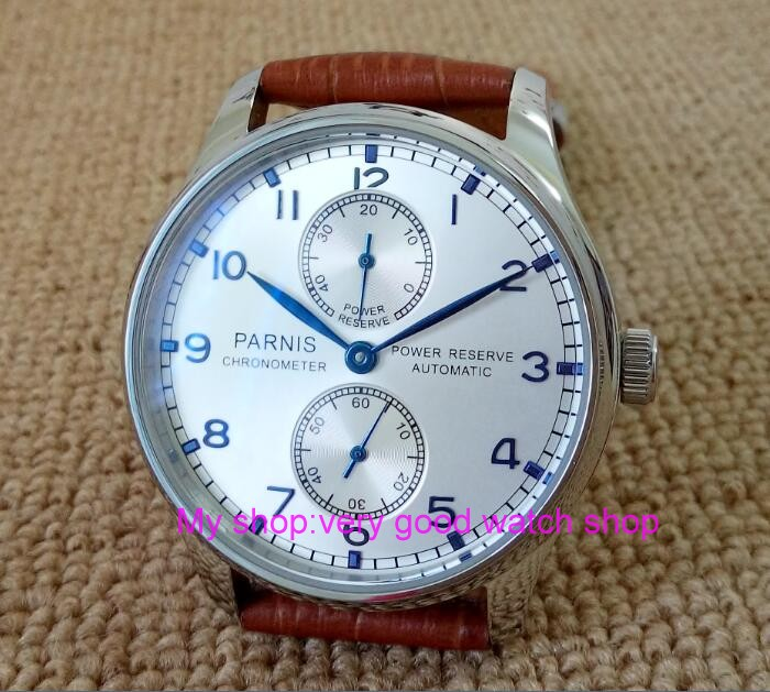Здесь продается  43MM PARNIS  Automatic Self-Wind   mechanical movement Silvery-white dial men