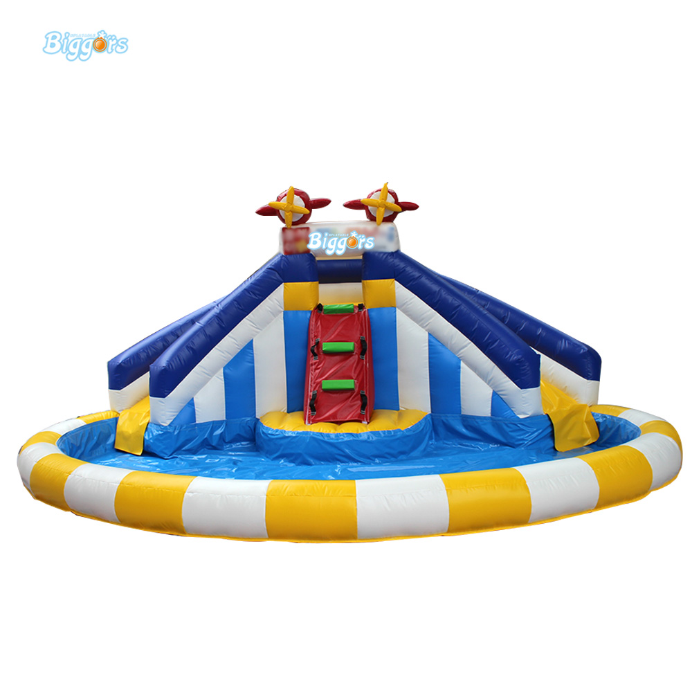 Commercail Grade Small Inflatable Water Slides with Pool for Sale funny summer inflatable water games inflatable bounce water slide with stairs and blowers