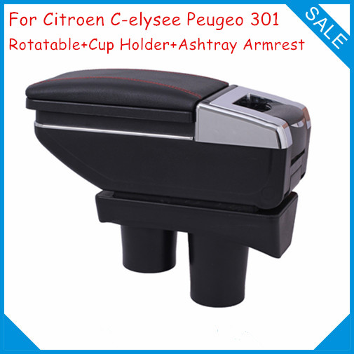 FREE SHIPPING!Car Console Box For Citroen C-elysee Peugeo 301,Car Armrest Center Arm Rest With Cup Holder,Car Accessories Parts