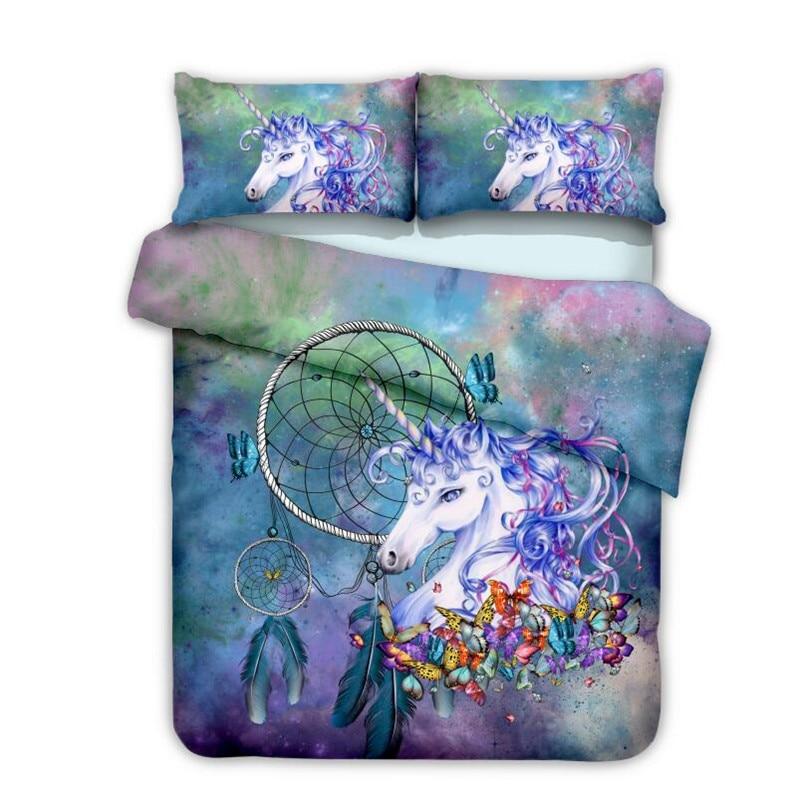 Fanaijia kids Cartoon unicorn Bedding sets queen size 3d ...