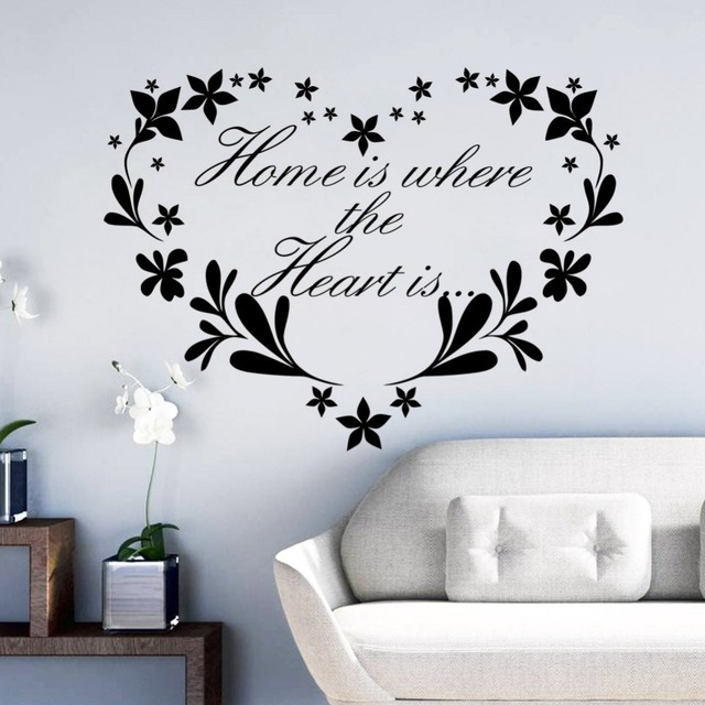 Love Flower Quotes Wall Sticker Resign Heart Floral Rattan Wall Classy Love Flower Quotes