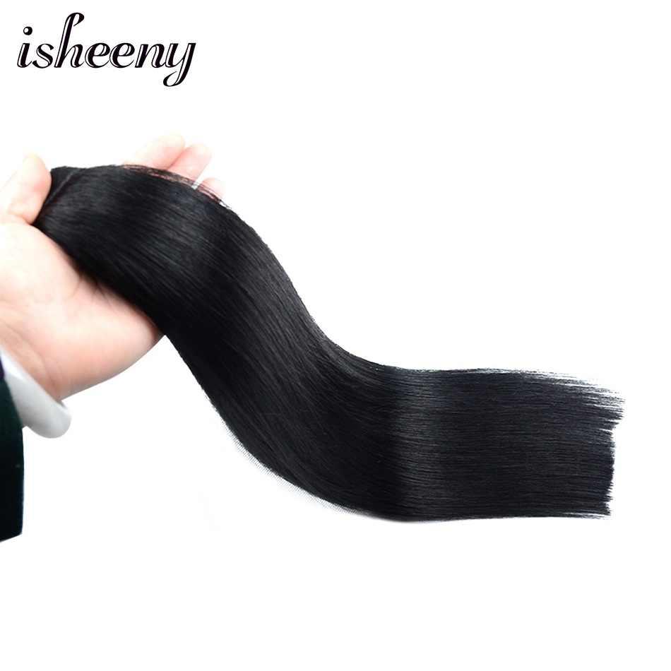 """Pelo humano Remy Cola de Caballo 14 """"18"""" 22 """"peinados rectos 60g 100% pinza en extensiones de pelo Natural"""