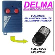 DELMA MIZAR 433 1CH, 2CH Replacement remote control / clone 433.92 MHZ Key Fob
