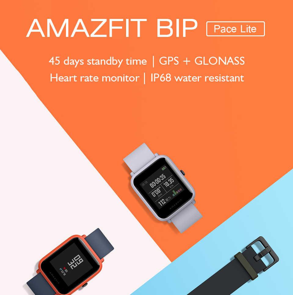 הגלובלי גרסה Amazfit ביפ huami חכם שעון GPS 45 ימים המתנה קצב לב צג Spainish רוסית smartwatch עבור אנדרואיד IOS