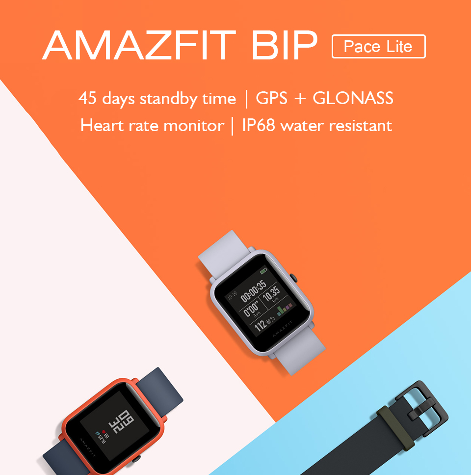 Global Version Xiaomi Huami Amazfit Bip Smart Watch GPS Gloness Smartwatch Smart-watch Watchs 45 Days Standby for Phone MI8 IOS 1