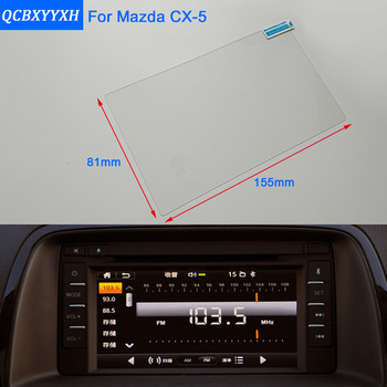 Car Styling 7 Inch GPS Navigation Screen Steel Glass Protective Film For Mazda CX-5 Control of LCD Screen Car Sticker image