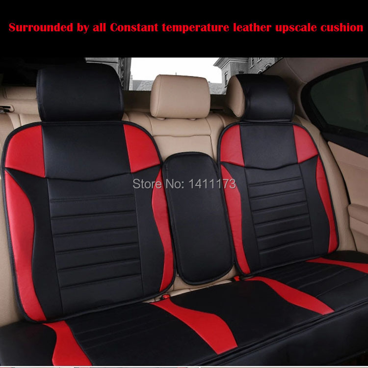 Classic Auto Seat Cushion Sets 5color Pu Leather Car Seat Covers For